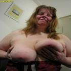 Mature chunky slut sucking and playing