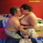 Chunky mature couple fucking and sucking
