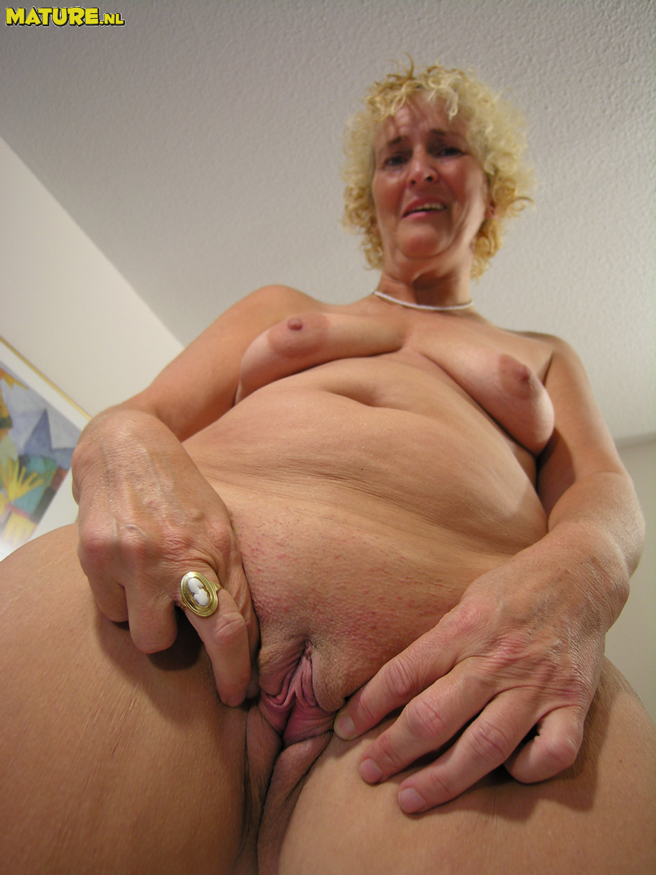 image Mature blonde milf shows off her pierced nipples amp rides bigdick