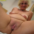 Horny blonde mature showing her stuff