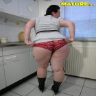 This chubby lovely mature slut shows everything
