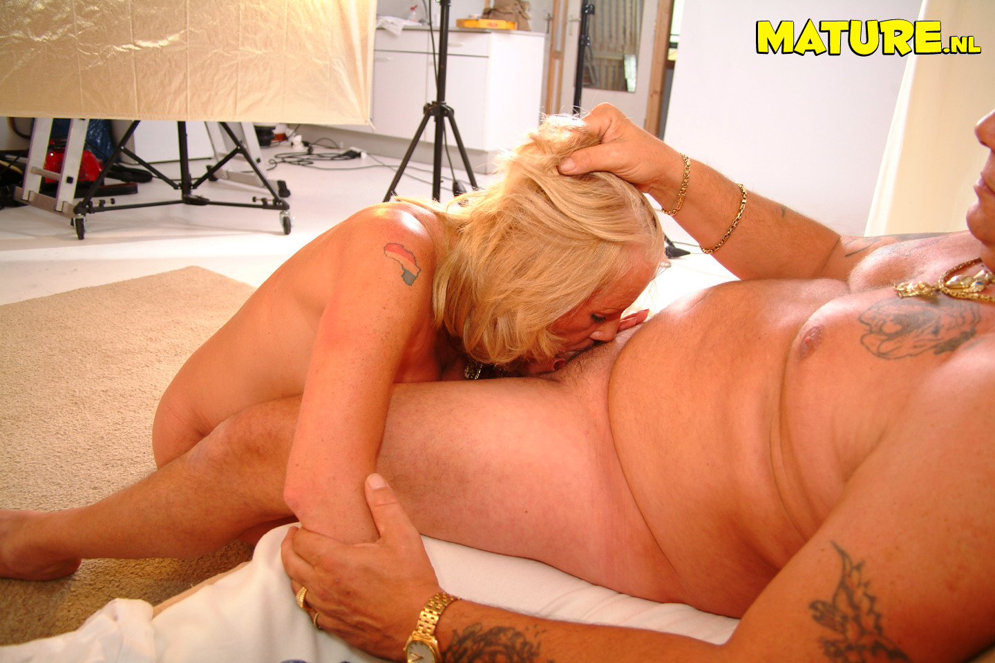 Mature horny blonde slut sucking and fucking opinion