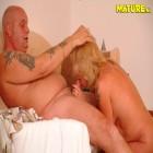 Blonde mature slut sucking and fucking hard