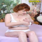 mature redhead loves the cock