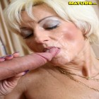 blonde mature gets a bat in her cunt