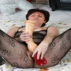 Horny oldie in hot action