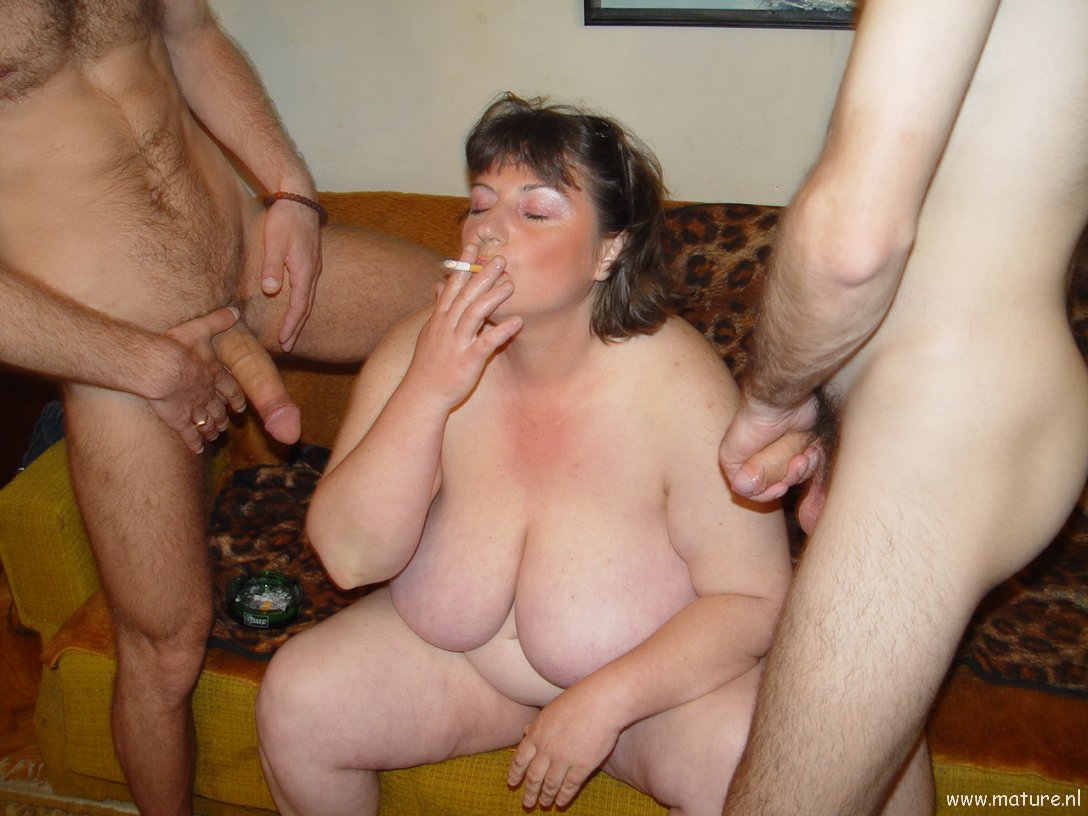 Mom anal threesome