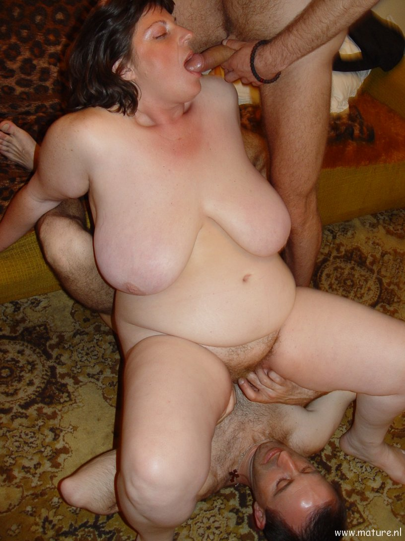 Amateur mature threesome sex big tits