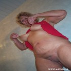 Blonde mature slut sucking and fucking her ass off