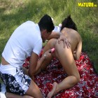 This mature slut loves to get fucked in the grass