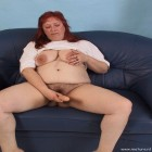 Chubby mature slut sucking and playing