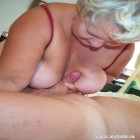 Chunky granny loving that big hard cock