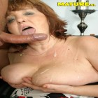 This nasty nana loves the taste of cock
