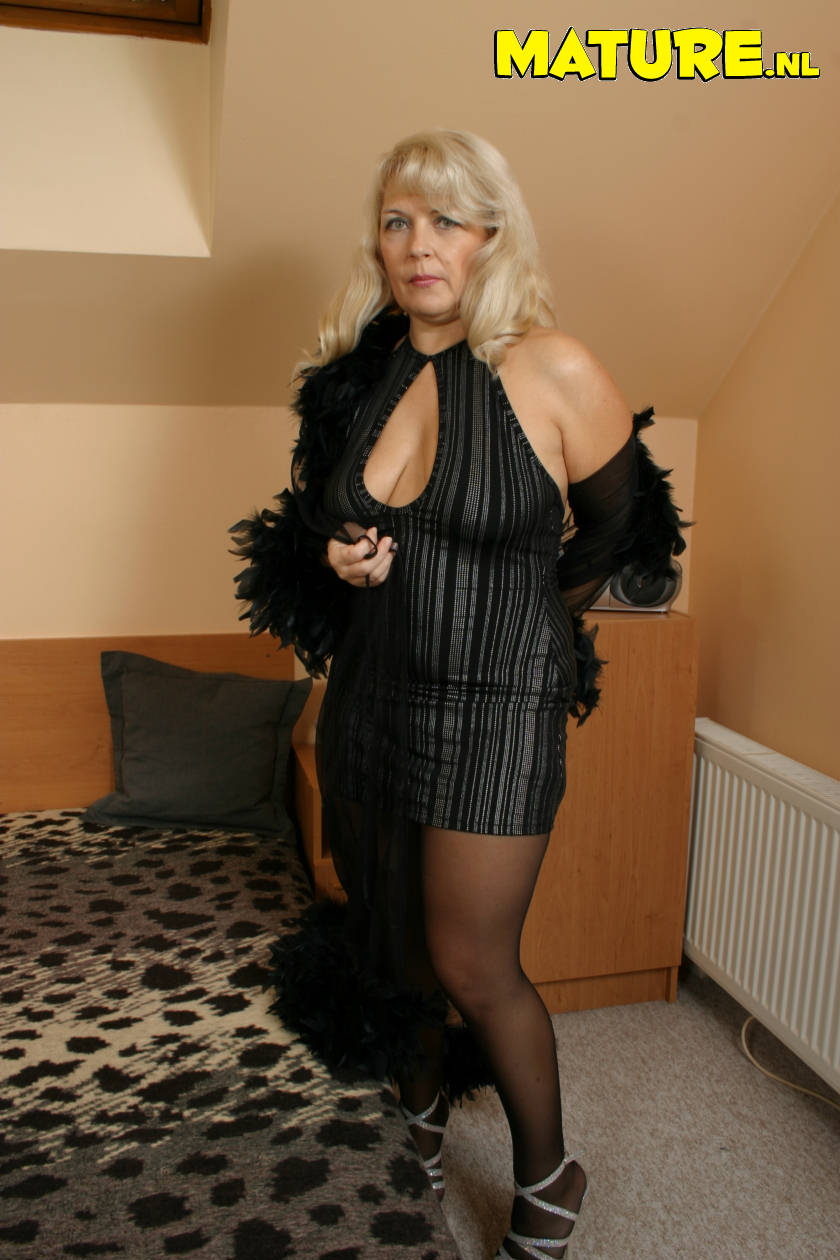 Matchless slutty mature women in sexy dresses