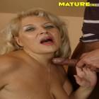 Horny older slut giving head and fucking