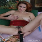 Hairy mature slut fucking, sucking and playing