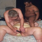 Fat mature chick in threesome