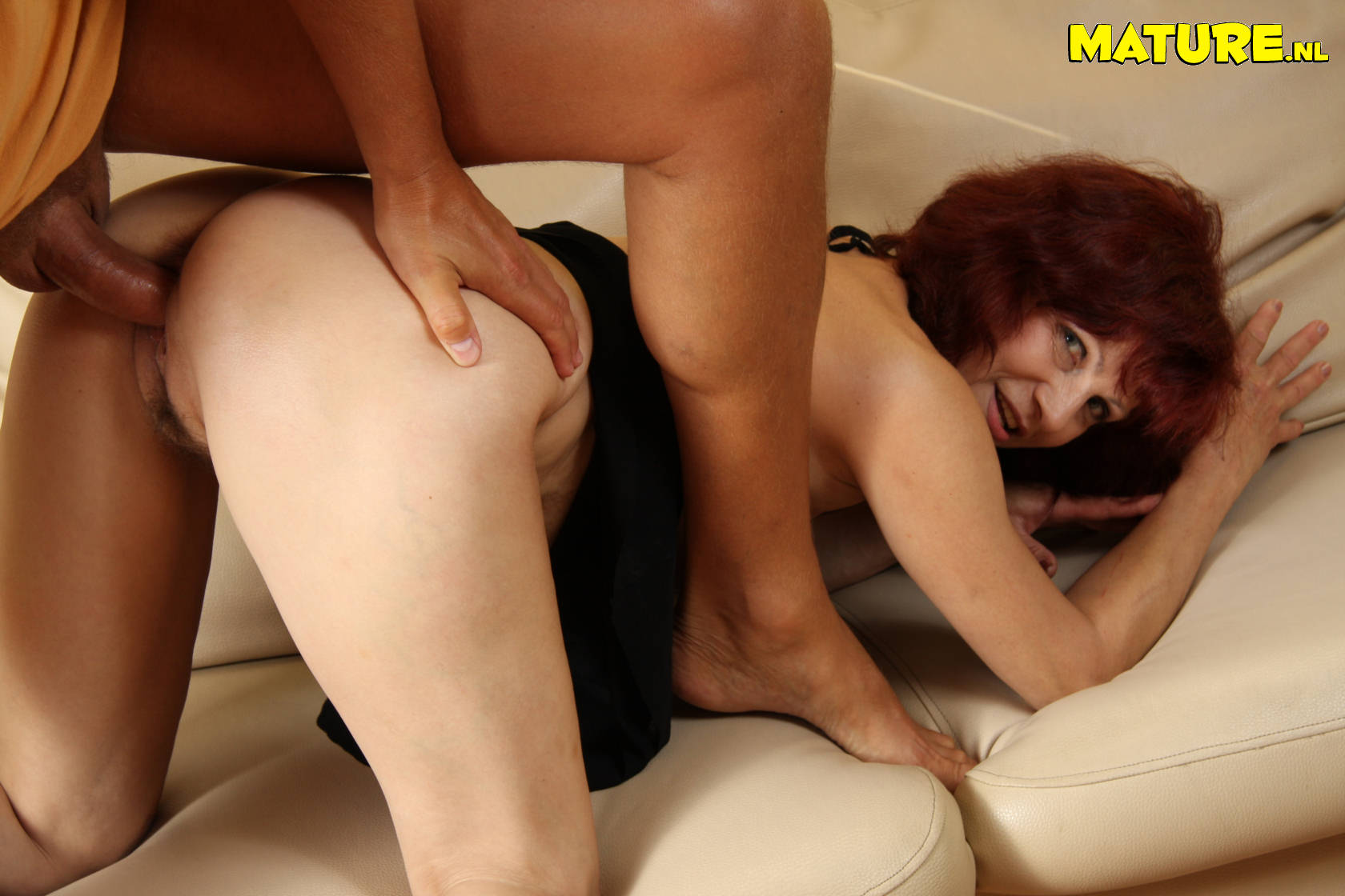 Old redhead sucking dick and gettin fucked
