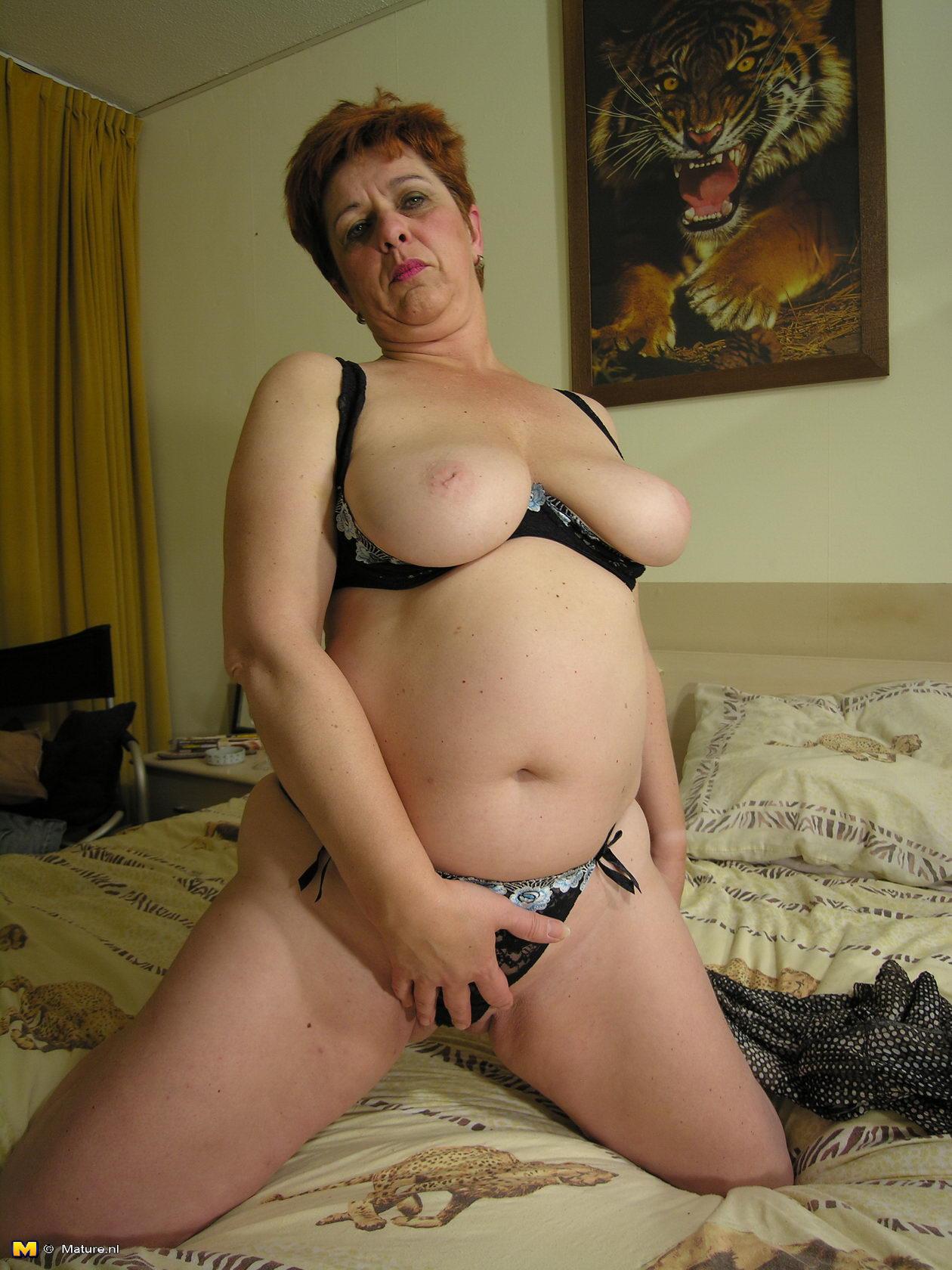 Huge titted older slut