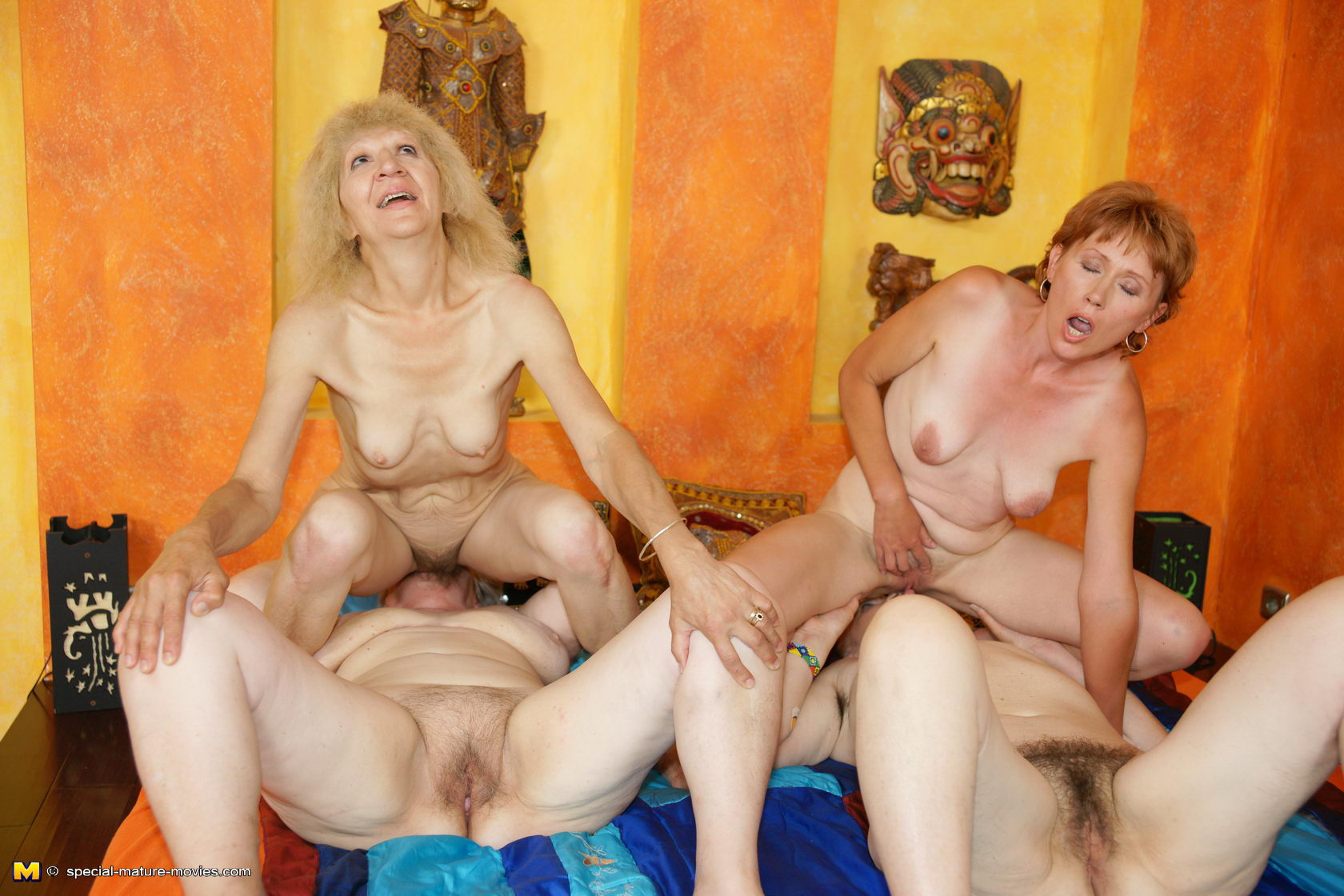 Party sex lesbian threesome