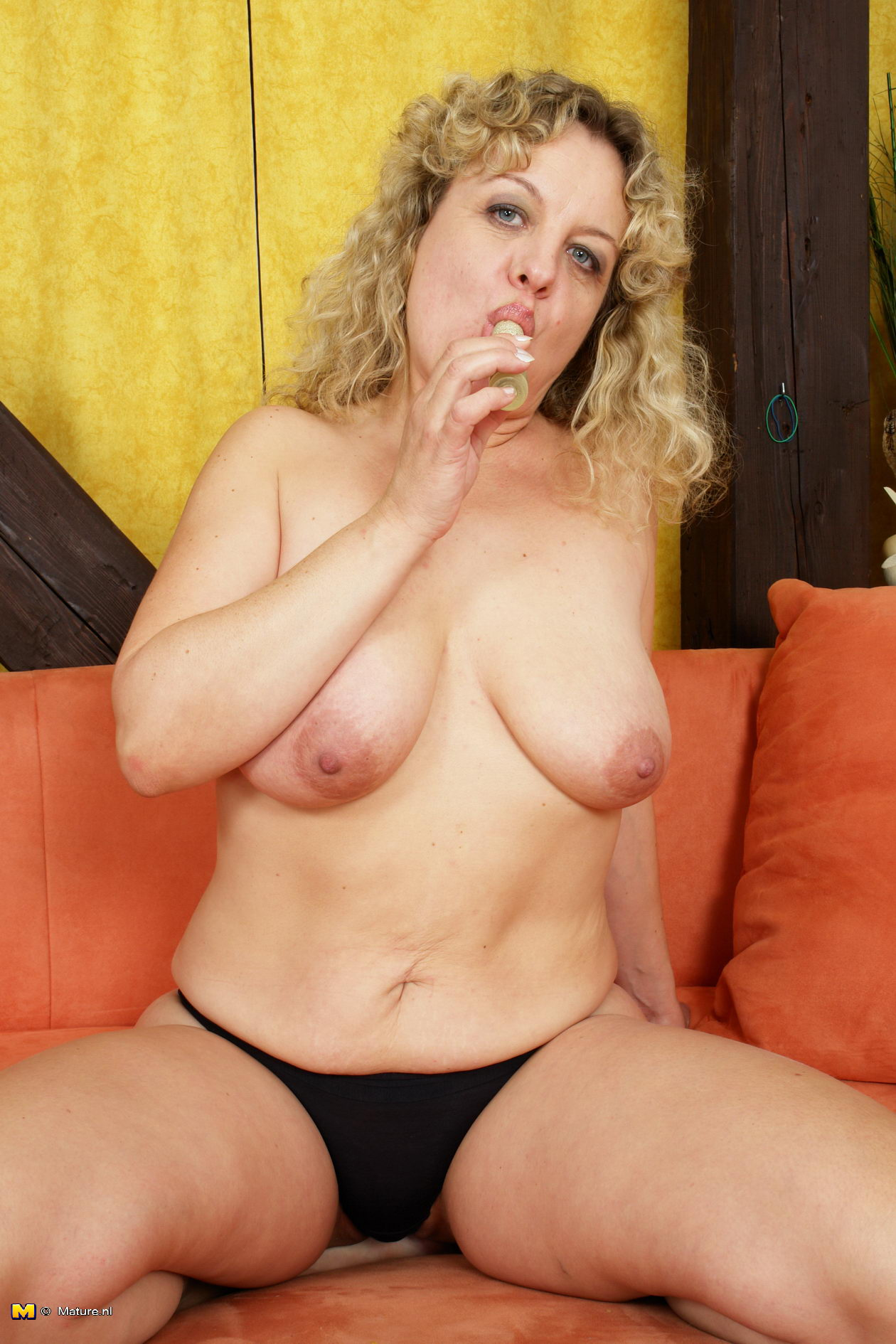 Granny showing off her old but still hot body 8