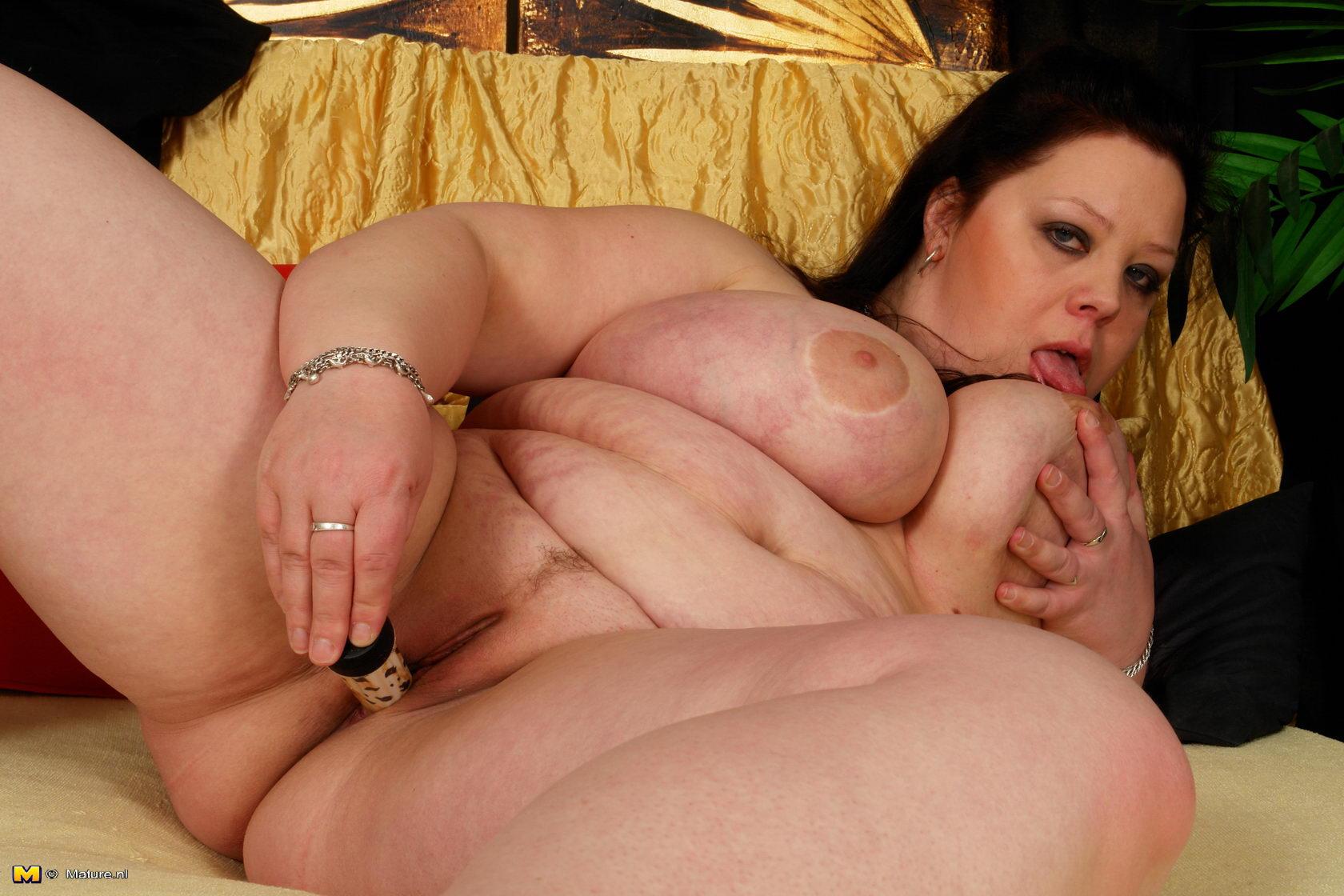 Big breasted mature slut going wild 3
