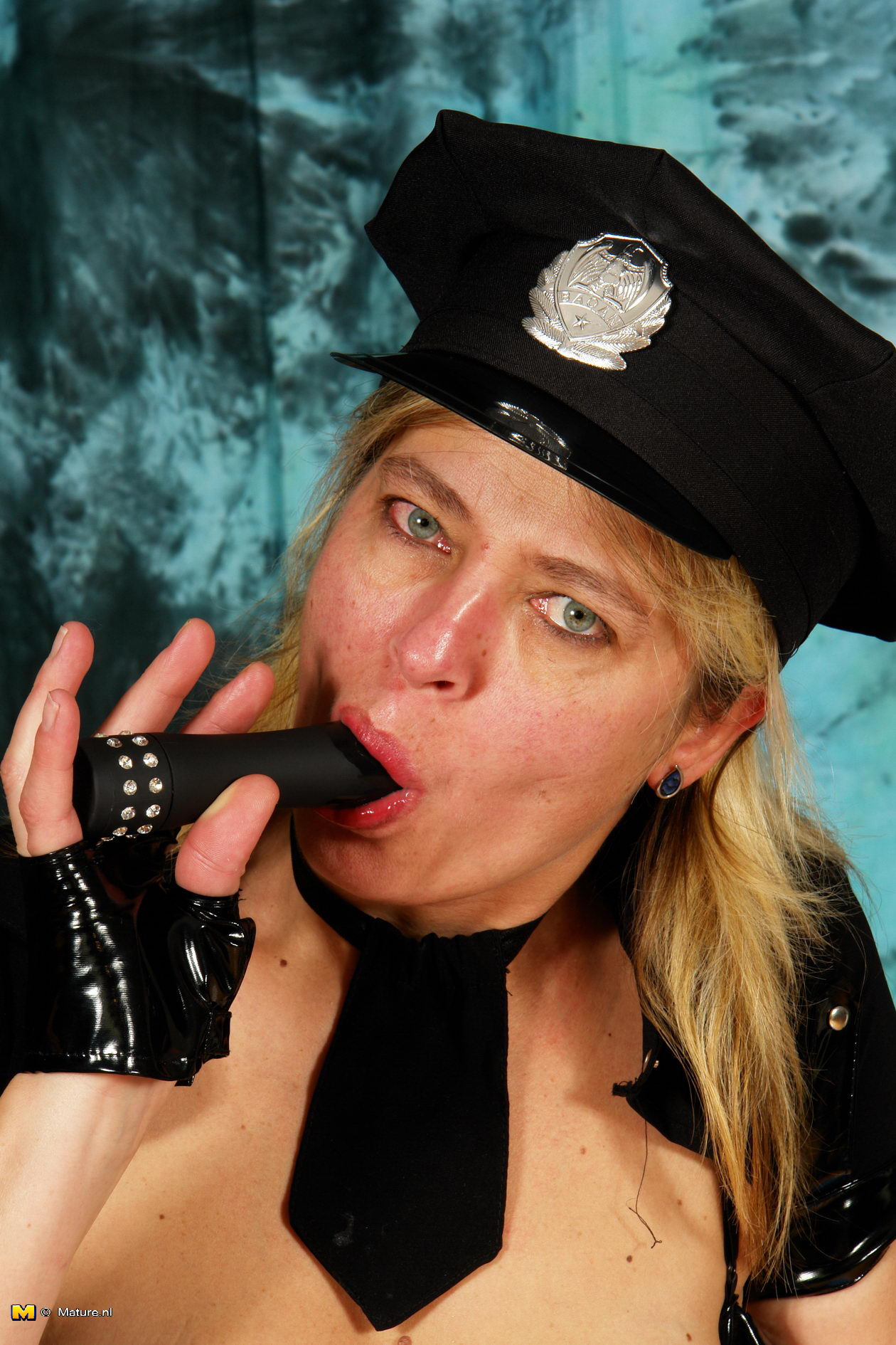 Mature female cop made a young criminal her sex slave 1