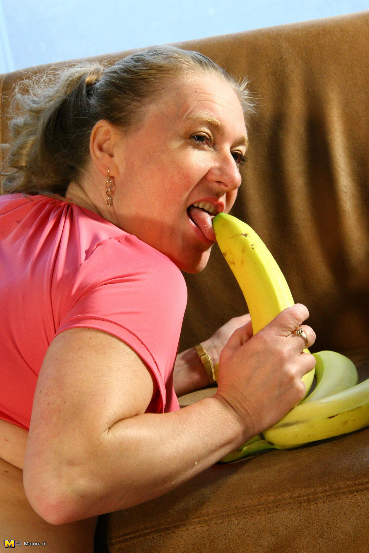 Playing with a banana 9