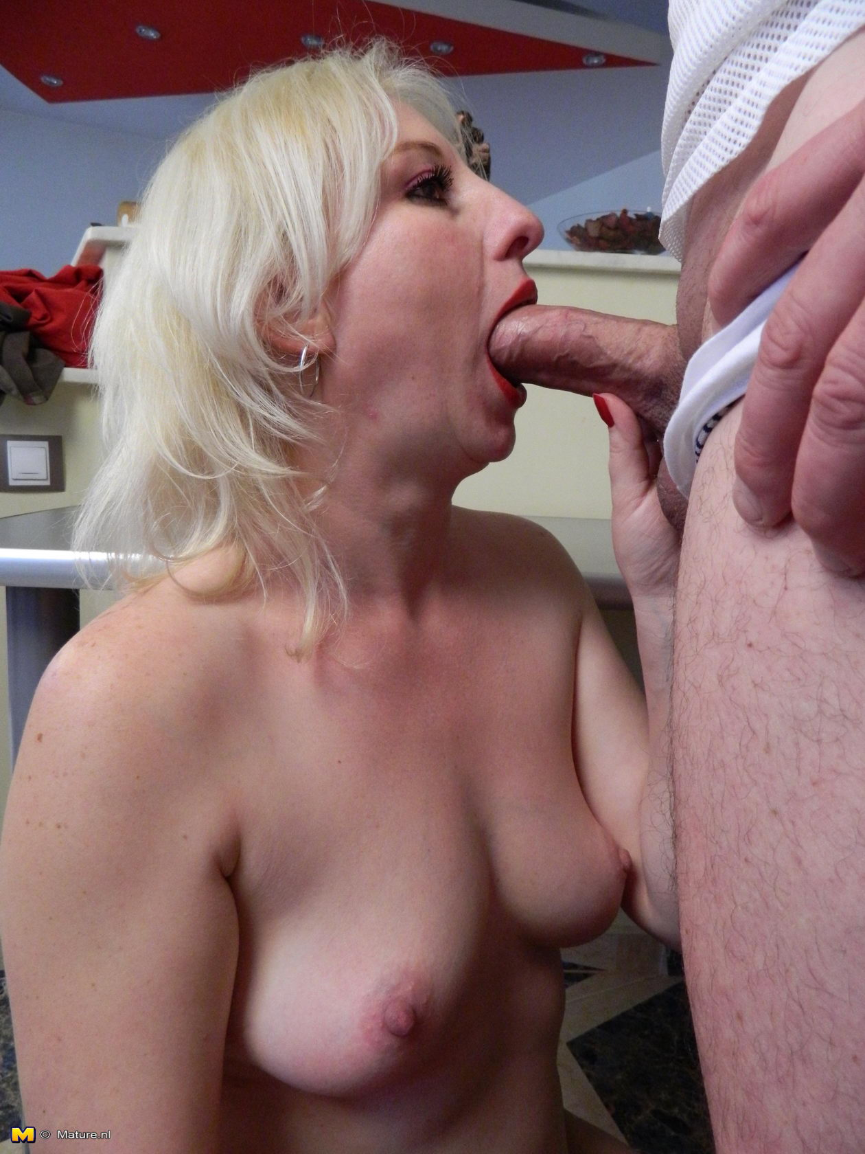 Hot blonde milf cock