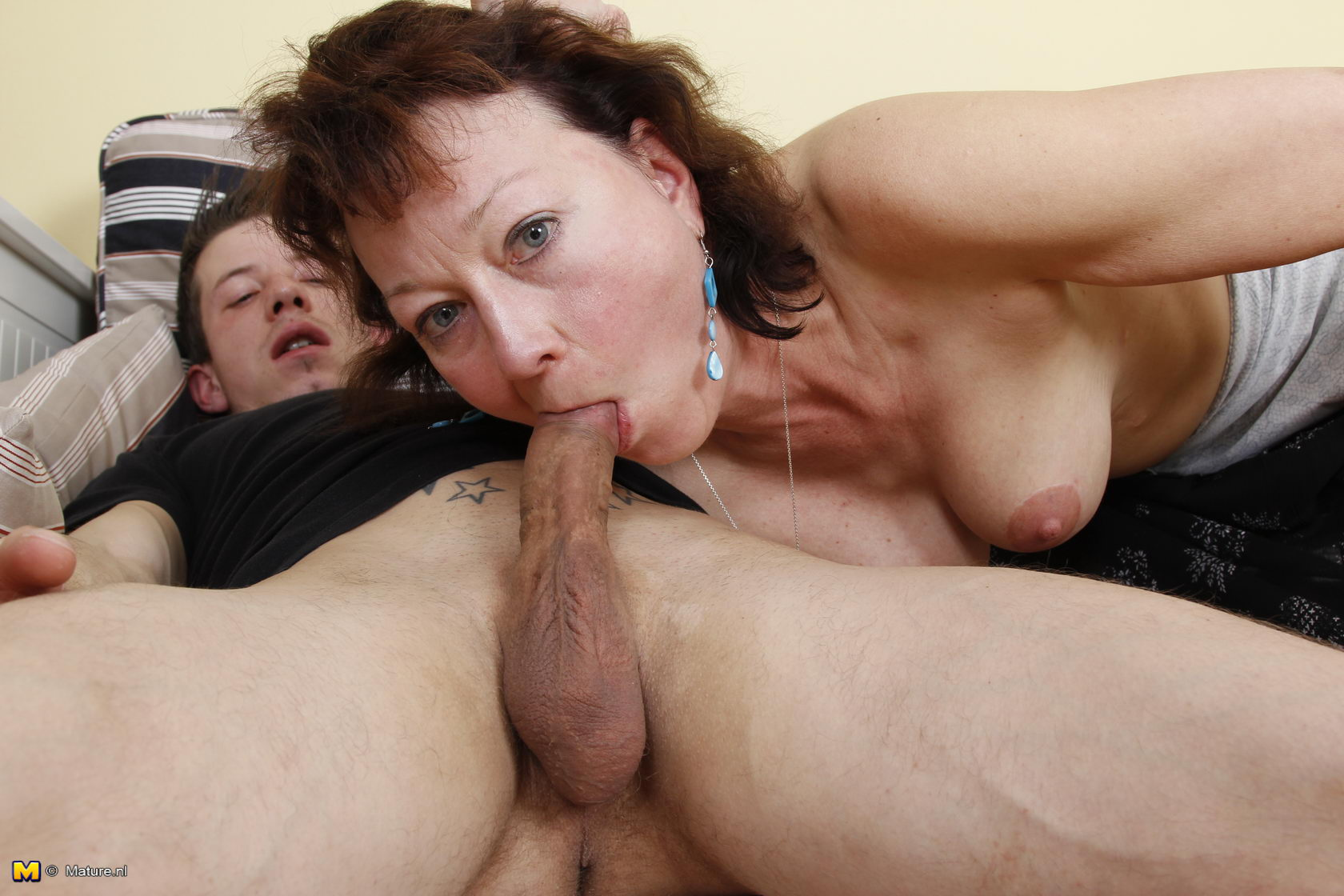 Two milfs suck and fuck a lucky guy 9