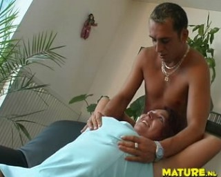 Chubby mature chick gets wild on a throbbing cock