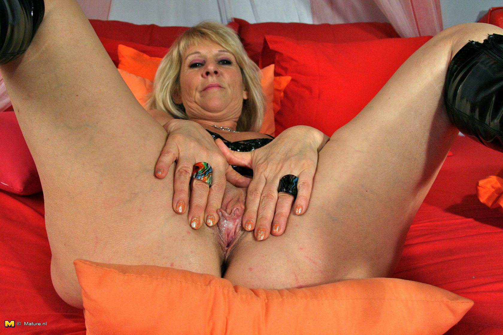 Blonde Slut Plays With Herself In A Club 90