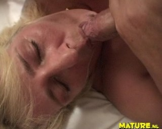 This blonde chubby mature loves the cock