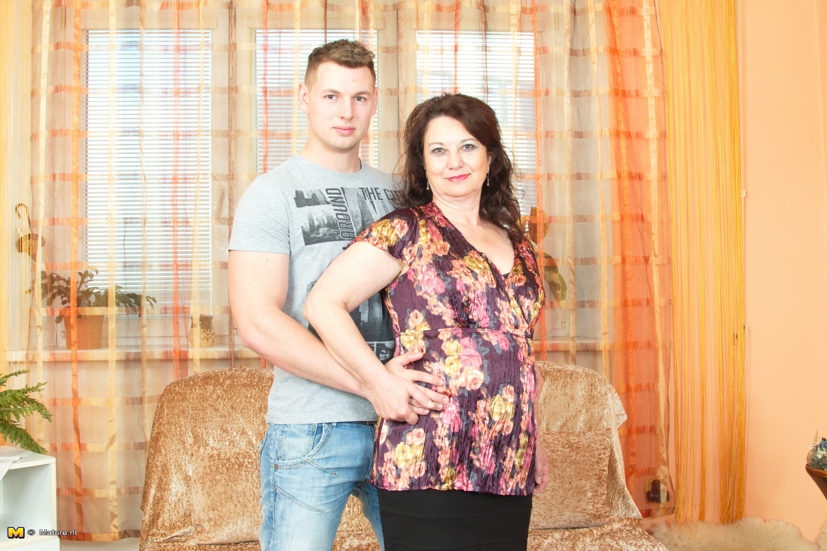 Horny housewife doing her way younger lover 4