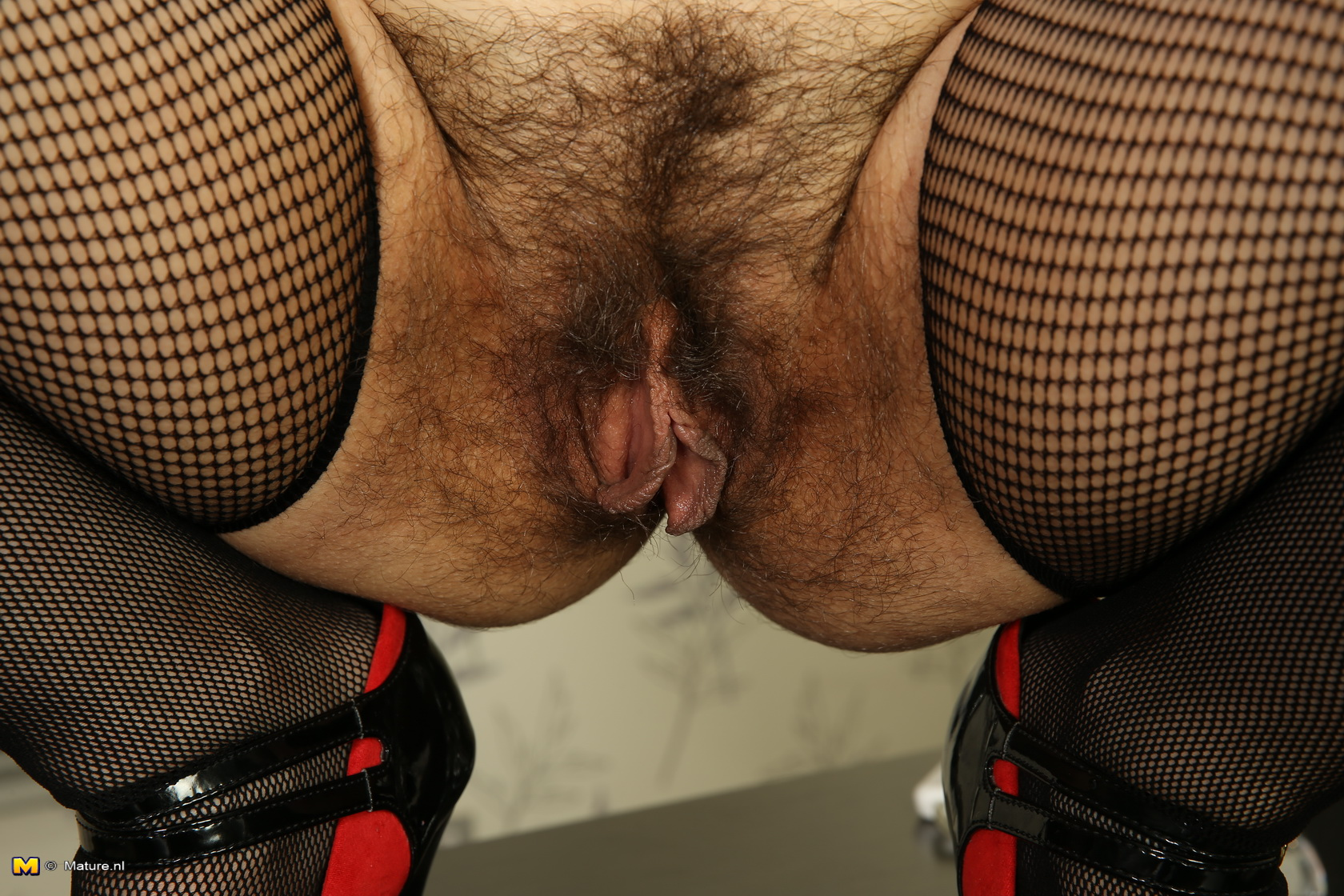 Hairy granny pantyhose