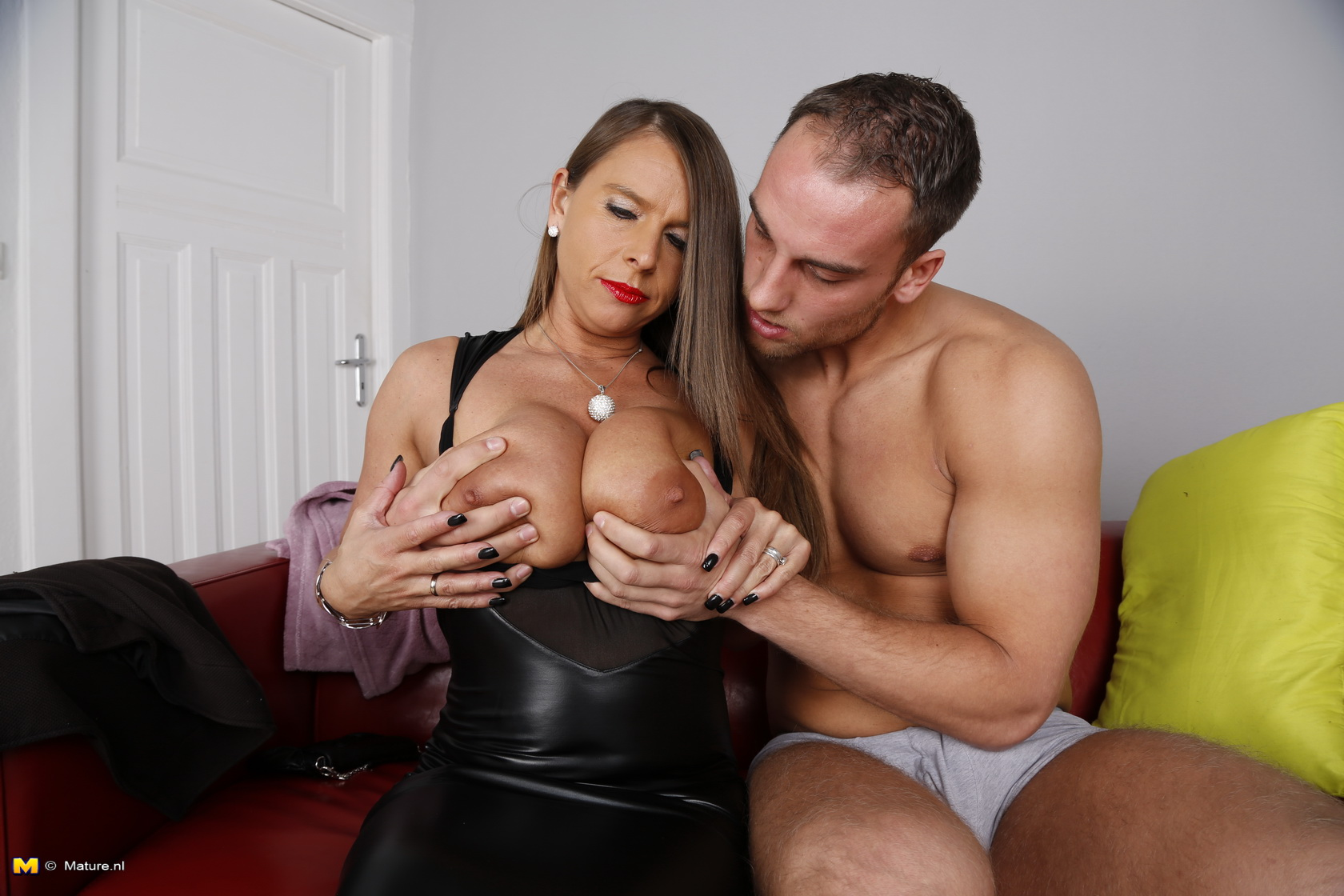 A guy playing with a busty asian tits 4