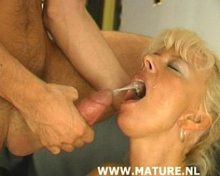 She really loves sucking that cock and swallowing that cum