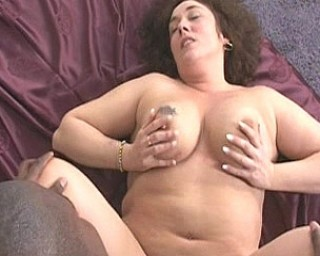 This chubby mature slut loves a hard black cock