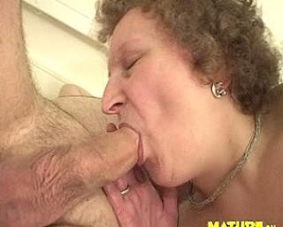 This chubby mature slut loves a hard throbbing cock