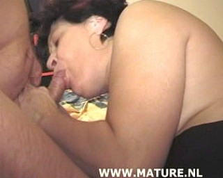 This chubby mature loves a good hard cock
