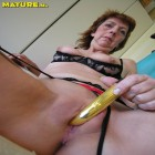 This mature slut loves to show you her cunt