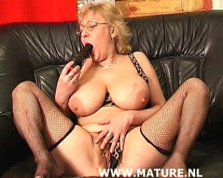Chubby big titted mature slut fucking and sucking
