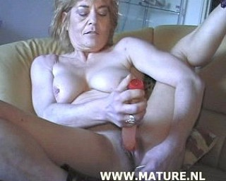 See this old babe enjoy her fingers and toys