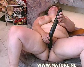 This mature chubby needs cocks for breakfast