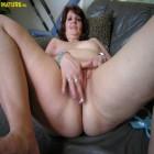 Horny big titted mature slut getting wet