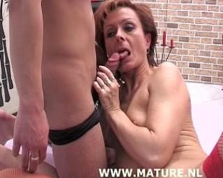 This mature slut loves the taste of two cocks