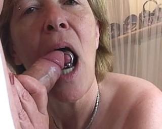Cum producing granny at her best