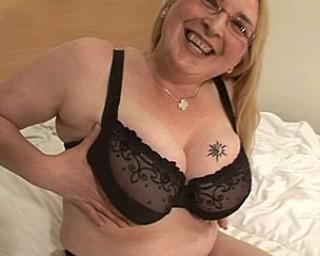 Blonde big hootered slut showing her stuff
