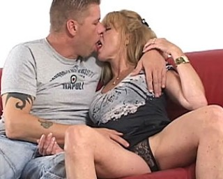 Hot sucking and fucking with a mature couple
