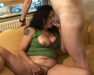 Mature slut loving that big hard cock
